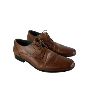 Stacy Adam Brown Leather Oxford Shoes